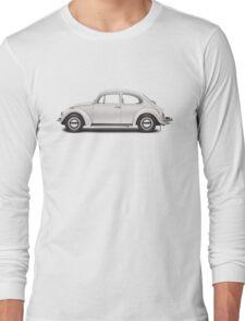 1969 Volkswagen Beetle Sedan - Toga White Long Sleeve T-Shirt