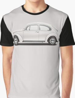1969 Volkswagen Beetle Sedan - Toga White Graphic T-Shirt