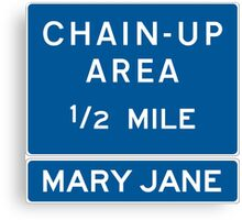Chain Up! - Winter Park/Mary Jane Canvas Print