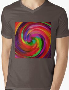 Abstract Art Mens V-Neck T-Shirt