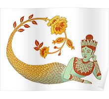 Flower Devi Green Goddess Poster