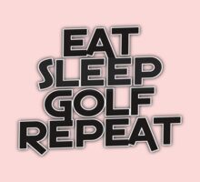 Eat Sleep Golf Repeat Kids Tee