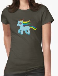blue rainbow pony Womens Fitted T-Shirt