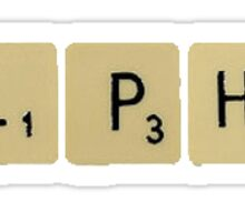Alpha Gam Scrabble Sticker