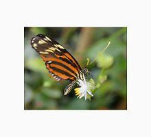 Orange Butterfly on White Flower Unisex T-Shirt