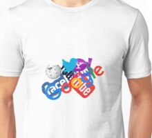Internet Stuff | Google | YouTube | Yahoo | Wikipedia | Twitter | Facebook | Geek Stuff Unisex T-Shirt