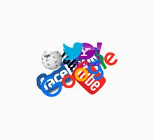 Internet Stuff | Google | YouTube | Yahoo | Wikipedia | Twitter | Facebook | Geek Stuff Unisex T-Shirt