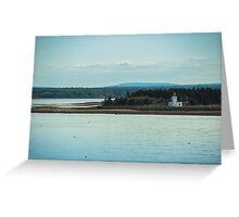 Nova Scotia Lighthouse Oceanscape and Landscape Greeting Card