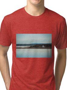 Nova Scotia Lighthouse Oceanscape and Landscape Tri-blend T-Shirt