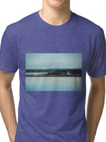 Nova Scotia Lighthouse Oceanscape and Landscape Tri-blend T-Shirt