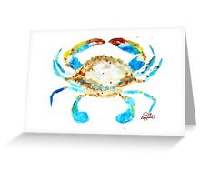 Blue Crab without splats by Jan Marvin Greeting Card