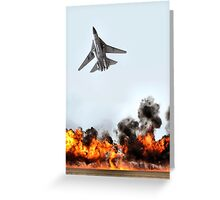F111 with Fire, Adelaide Air Show  Greeting Card