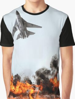 F111 with Fire, Adelaide Air Show  Graphic T-Shirt