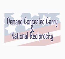 Demand Concealed Carry & National Reciprocity One Piece - Short Sleeve