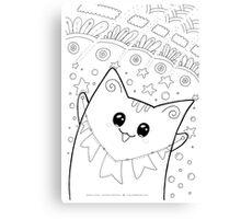 Kawaii Neko Yoko - Happiness Cat Canvas Print