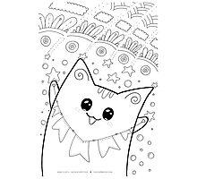 Kawaii Neko Yoko - Happiness Cat Photographic Print