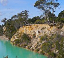 Little Blue Lake, Tasmania, Australia Sticker