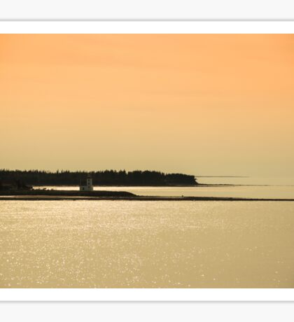 Nova Scotia Shoreline at Sunset Photograph Sticker