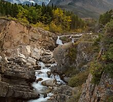 Swiftcurrent Falls by yellocoyote