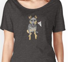 "Australian Cattle Dog, Blue Heeler, ""No.1 Fan"" Women's Relaxed Fit T-Shirt"