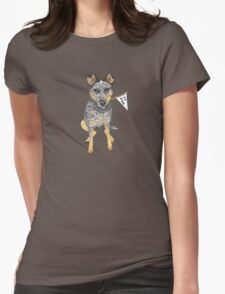 "Australian Cattle Dog, Blue Heeler, ""No.1 Fan"" Womens Fitted T-Shirt"