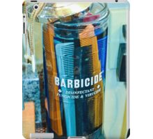 Barbershop Combs in Barbicide Jar iPad Case/Skin