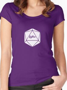 __dungeons and dragons fighter Women's Fitted Scoop T-Shirt