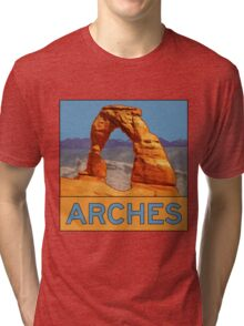Arches National Park - Delicate Arch - Moab Utah Tri-blend T-Shirt