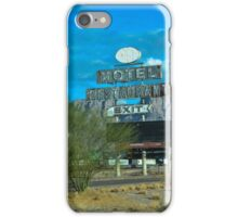 Motel Restaurant Exit Old Beat up Sign iPhone Case/Skin