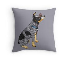 Australian Cattle Dog, Blue Heeler, Birthday Cupcake Throw Pillow