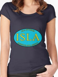ISLA - Isla Mujeres, Quintana Roo - Oval Women's Fitted Scoop T-Shirt