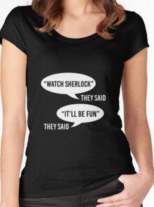 Watch Sherlock Women's Fitted Scoop T-Shirt