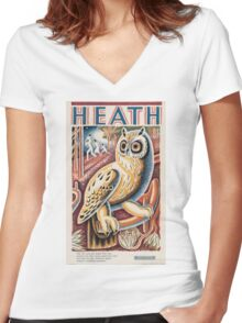 Vintage poster - Heath Women's Fitted V-Neck T-Shirt
