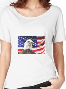 American Eagle Flag Women's Relaxed Fit T-Shirt