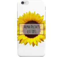 Alpha Delta Pi Sunflower iPhone Case/Skin
