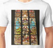 Stained Glass window, Name of Mary church, Novi Sad, Serbia (1) Unisex T-Shirt