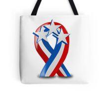 Patriotic Ribbon Tote Bag