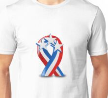 Patriotic Ribbon Unisex T-Shirt