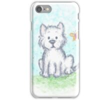 Westie Puppy and Butterfly iPhone Case/Skin