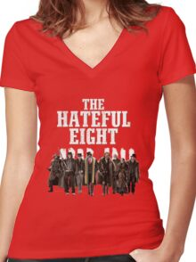 the hateful eight characters Women's Fitted V-Neck T-Shirt