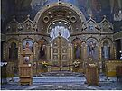 Iconstatasis, St Nicholas Russian Church, Bucharest Romania by Margaret  Hyde