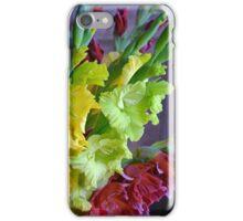 Colorful gladiola flowers iPhone Case/Skin