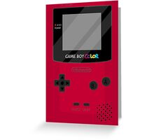 Gameboy Color - Red Greeting Card