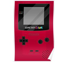 Gameboy Color - Red Poster