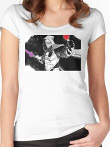 Darth Revan Bordered Women's Fitted Scoop T-Shirt