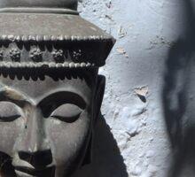 Buddha Head Sculpture with Tree Shadows Sticker