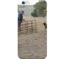 'MEG, THE FOREMAN ON THE JOB!' putting up the gates. iPhone Case/Skin