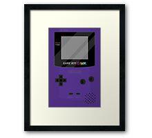 Gameboy Color - Purple Framed Print