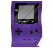 Gameboy Color - Purple Poster