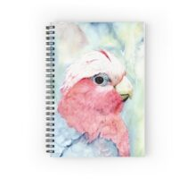 Australian Galah Cockatoo Watercolour Painting  Spiral Notebook